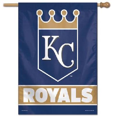 Kansas City Royals House Flag MLB Crown Logo Navy Blue