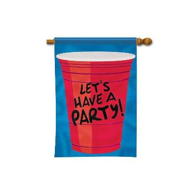 Red Solo Cup 2 Sided Vertical Party House Flag