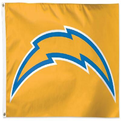 Los Angeles Chargers Flag 3x5 Logo on Yellow