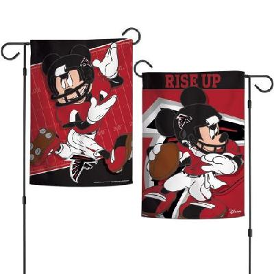 Atlanta Falcons Garden Flag 2 Sided NFL Mickey Mouse Rise Up
