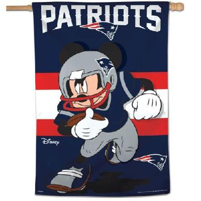 New England Patriots Banner Mickey Mouse NFL Football House Flag