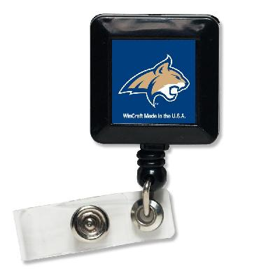 Montana State Reel Bobcats Badge Holder Retractable MSU