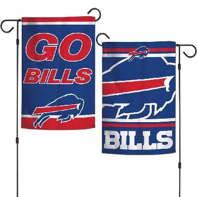 Buffalo Bills Garden Flag 2 Sided Go Bills Slogan