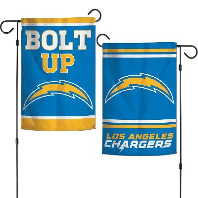 Los Angeles Chargers Garden Flag 2 Sided Bolt Up Slogan