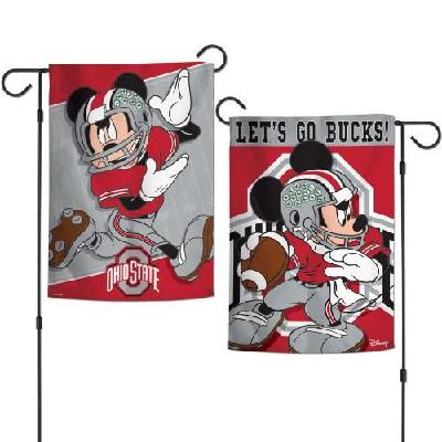 Ohio State Buckeyes Garden Flag 2 Sided Disney Mickey Mouse