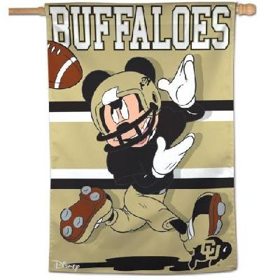 Colorado Banner Mickey Mouse Buffaloes Football House Flag