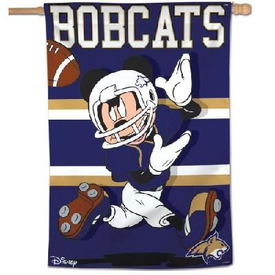 Montana State Bobcats Flag Mickey Mouse Football Banner