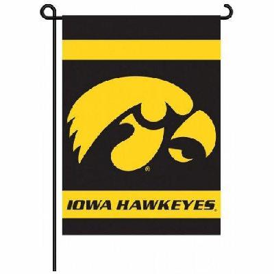 University of Iowa Hawkeyes Garden Flag 2 Sided With Holder