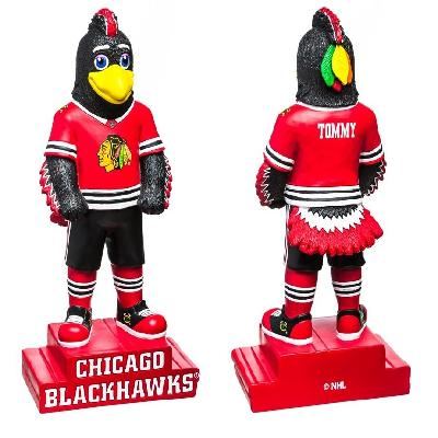 Chicago Blackhawks Mascot Statue Tommy Hawk Collectible 12'' Tall