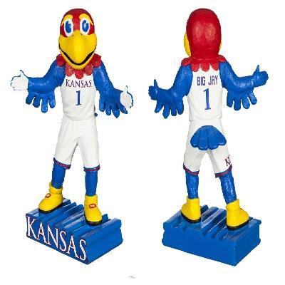 Kansas Jayhawks Mascot Statue Big Jay Collectible 12'' Tall
