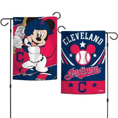 Cleveland Indians Garden Flag 2 Sided Mickey Mouse Baseball