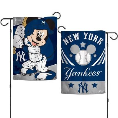 New York Yankees Garden Flag 2 Sided Mickey Mouse Disney