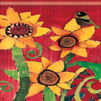 Peace Sunflowers Fall Flag Decorative