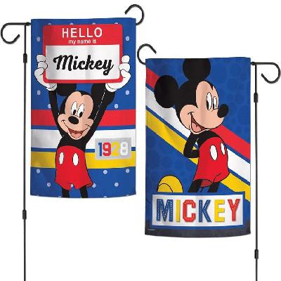 Mickey Mouse Hello Garden Flag 2 Sided 1928