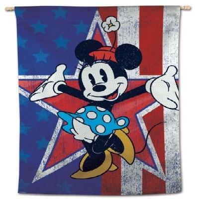 Minnie Mouse House Flag Disney Americana Patriotic Banner
