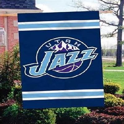 Utah Jazz Flag 2 sided Applique House Banner Retro Logo