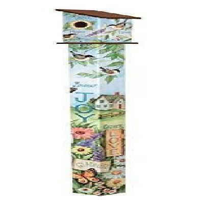 Nest Blessings 6' Art Pole Birdhouse Peace Decoration