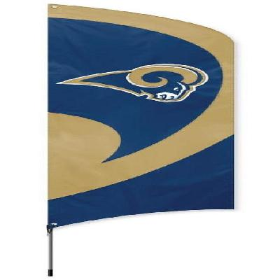 Los Angeles Rams NFL Tall Team Feather Flag With Flagpole