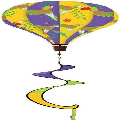 Hummingbird Hot Air Balloon Wind Spinner