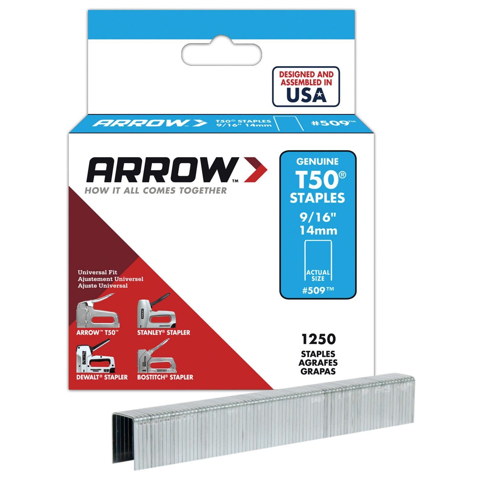 SET OF 2 PACKS OF 14MM ARROW T50 STAPLES FOR STAPLE GUNS