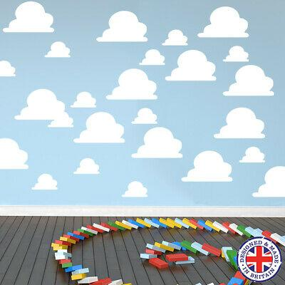 20-40-Clouds-Toy-Story-Inspired-Themed-Bedroom-Wall-Vinyl-Sticker-Decals-Cloud thumbnail 20