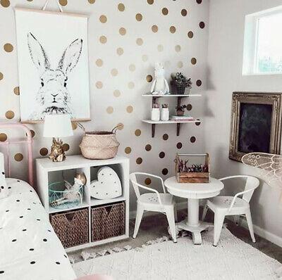 Gold-Polka-Dot-Shape-Wall-Stickers-Spots-Dots-Circle-Decal-Kids-Bedroom-Nursery thumbnail 8