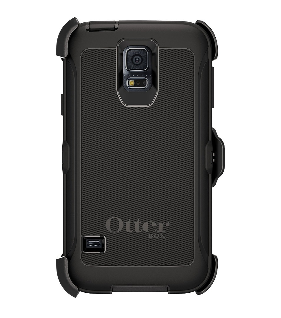 otterbox defender series protective phone case for samsung galaxy s5 black ebay. Black Bedroom Furniture Sets. Home Design Ideas