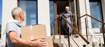 Senior Couple Moving to New House