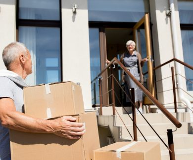Senior Couple Moving to New House