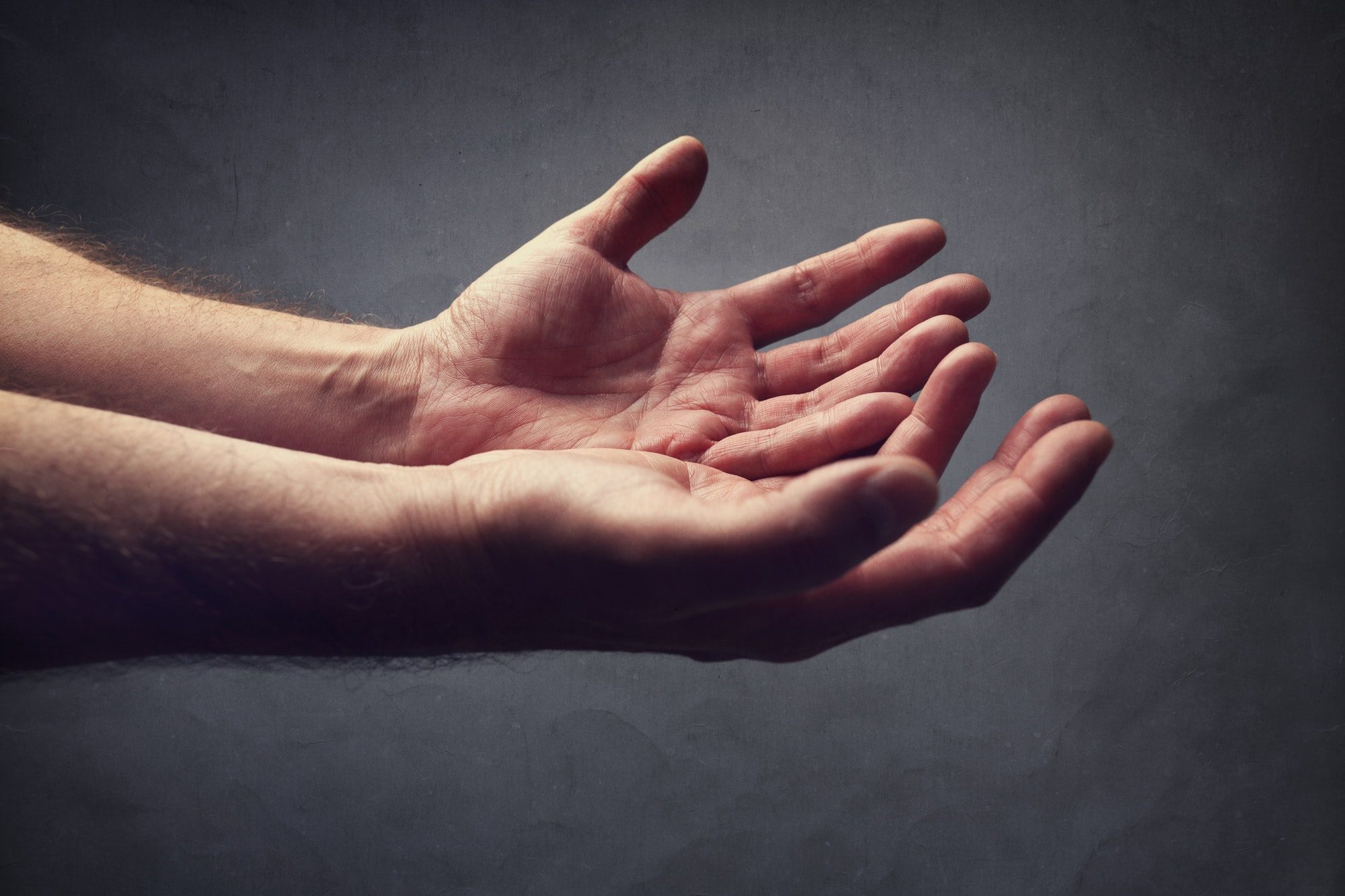 Helping hands or begging for help