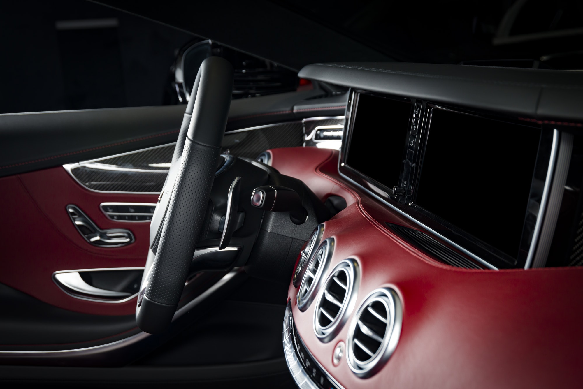 modern race car interior