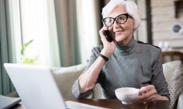 Senior woman talking on phone