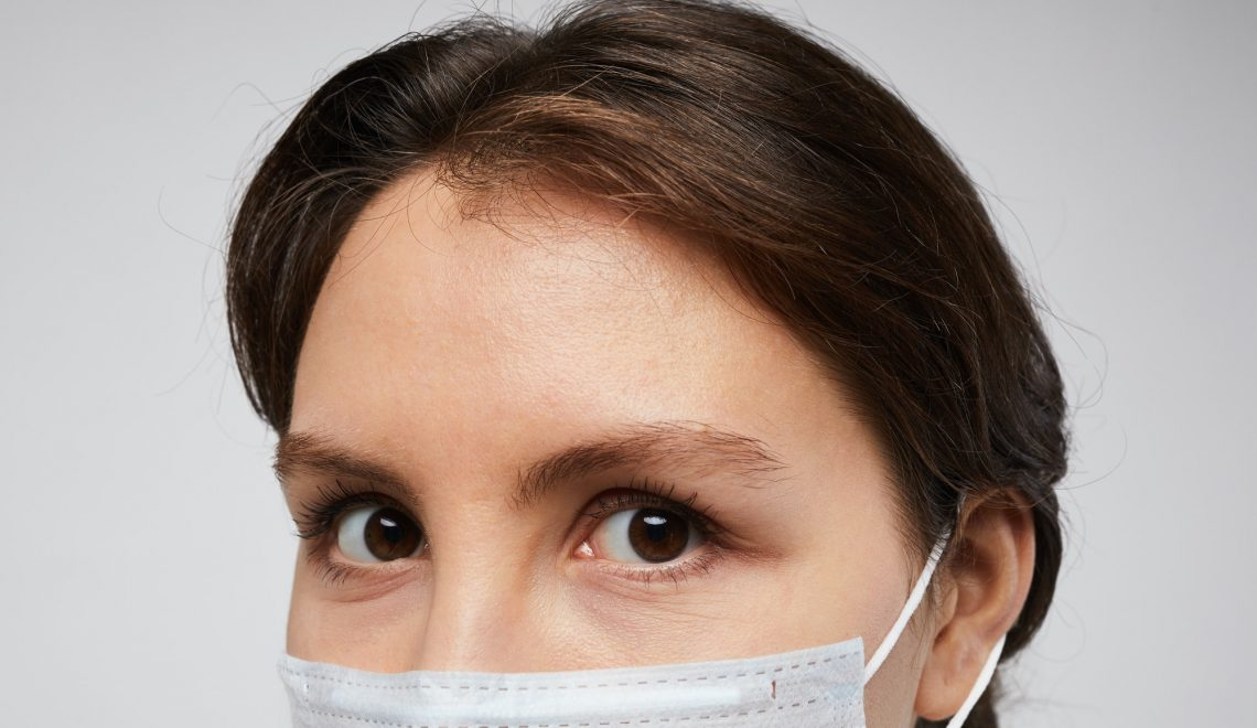 Woman Wearing Face Mask Close Up