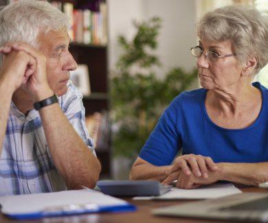 Financial problems of senior couple