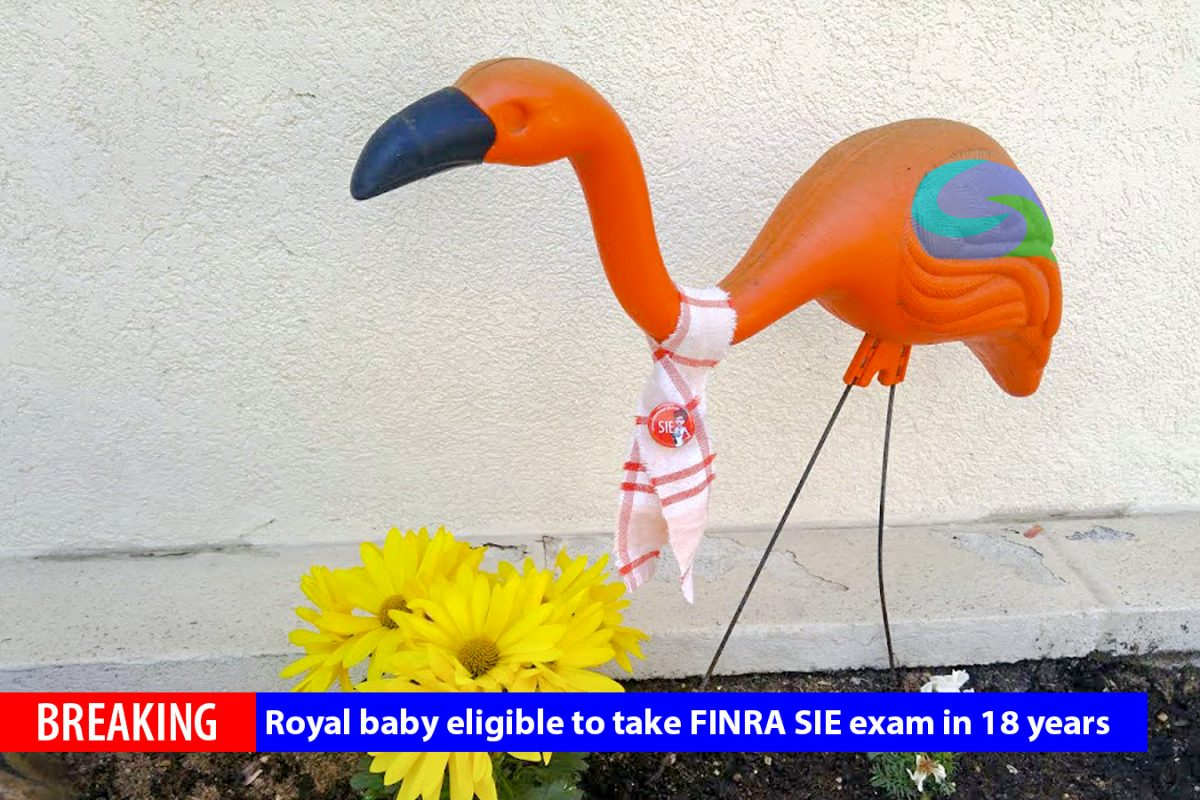 BREAKING: Royal baby eligible to take FINRA SIE Exam in 18 years