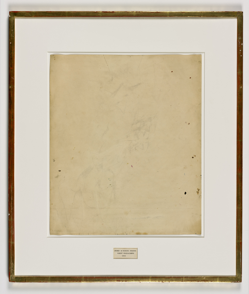 Robert Rauschenberg, Erased de Kooning Drawing, 1953 · SFMOMA