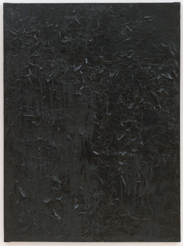 Robert Rauschenberg Untitled Glossy Black Painting Ca