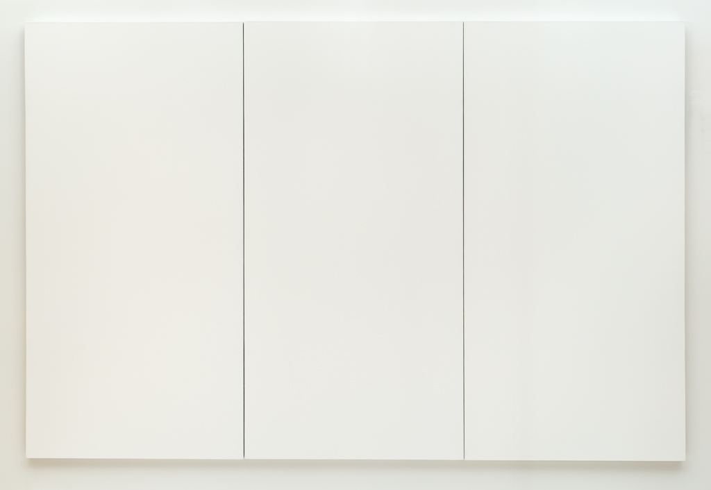Robert rauschenberg white painting three panel 1951 for White canvas painting
