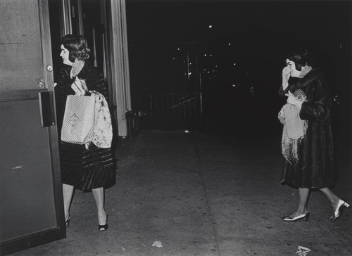 Two ladies with identical Jackie Kennedy masks, New York, from the series Where Time Has Vanished