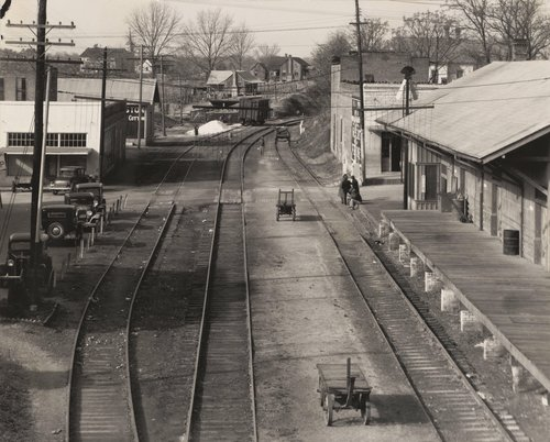 View of Railroad Station, Edwards, Mississippi