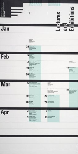 Columbia University School of Architecture, Planning, and Preservation, Spring 1986 Lecture Series Poster