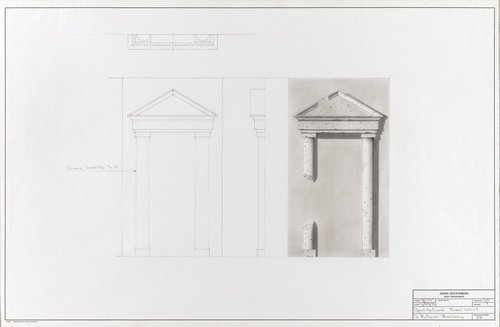 Architectural bas-relief for J. Patrick Mahoney