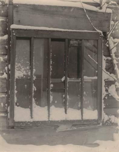 Window: Wood, Glass, Snow