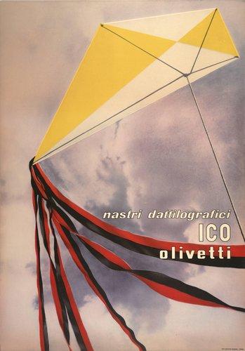 Olivetti nastri dattilografici ICO poster