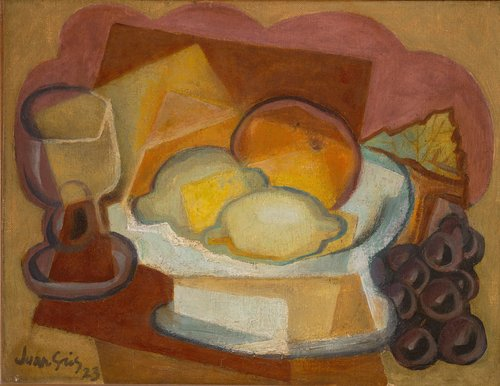 Compotier et verre (Nature morte aux citrons) [Fruit Dish and Glass (Still Life with Lemons)]