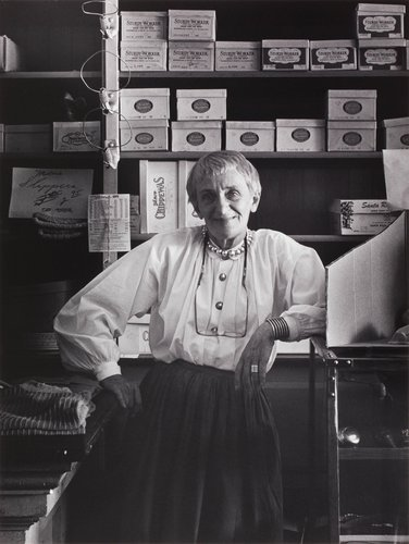 Dorothea Lange in Cook, McKenzie and Son Store, Monticello, Berryessa Valley, from the series Death of a Valley