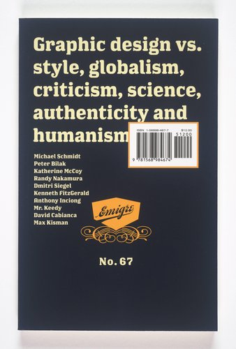 Emigre magazine, no. 67 (Graphic design vs. style, globalism, criticism, science, authenticity, and humanism)