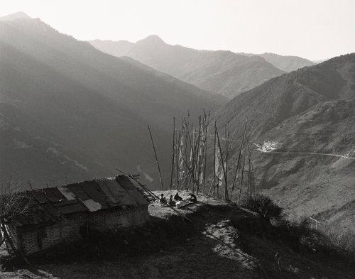 Threshing Rice, Trongsa, Bhutan