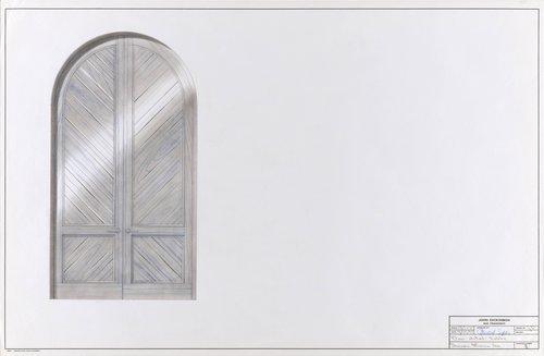 Door detail for lobby, Sonoma Mission Inn