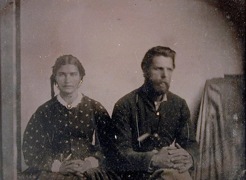 Untitled [Soldier and wife]